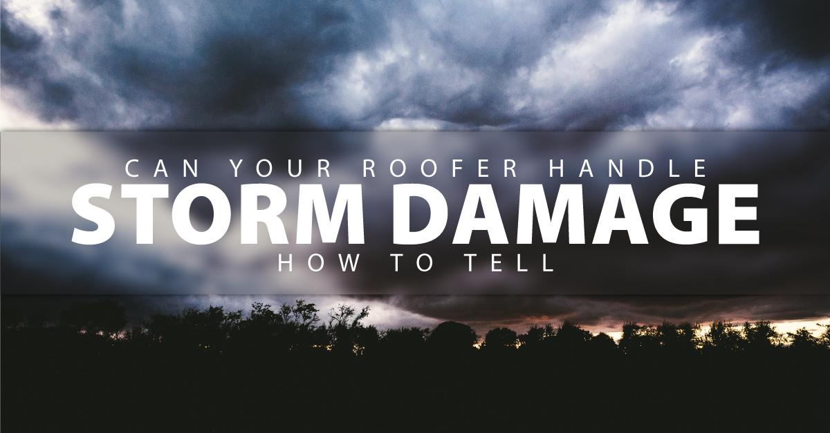 Can Your Roofer Handle Residential Storm Damage, Repair Savannah GA?